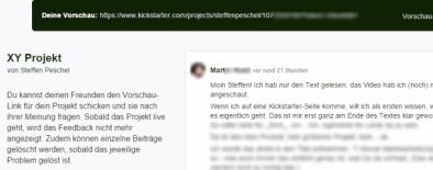 Kickstarter Feedback