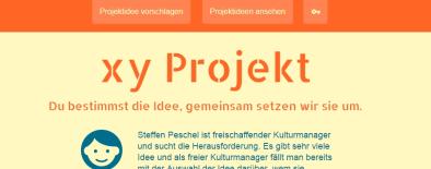 Mockup für die xy Projekt Plattform