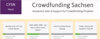 Webseite Crowdfunding Sachsen