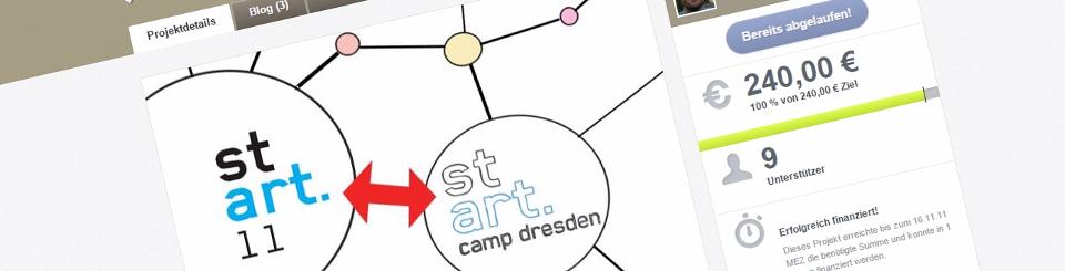 Screenshot 24 Stunden Crowdfunding stARTreise Dresden Duisburg