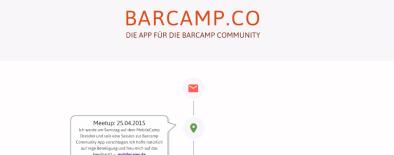 Webseite Barcamp App