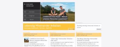 Screenshot der Webseite lebendig-miteinander-arbeiten.de
