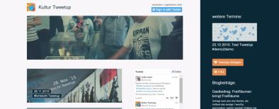 Redesign der Webseite kultur-tweetup