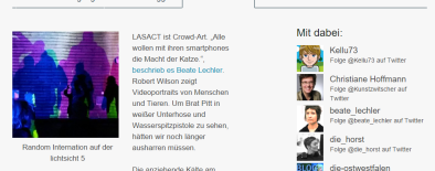 Screenshot #lichtsicht Tweetup